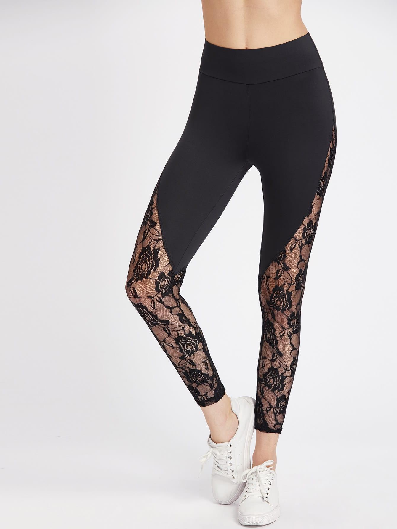 Lace Insert Leggings