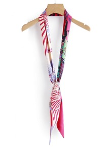 Mixed Print Skinny Scarf