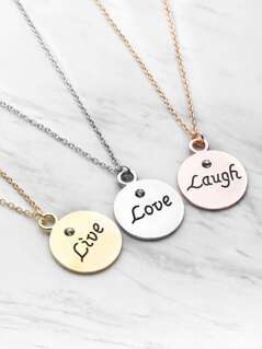 Round Pendant Friendship Necklace 3pcs