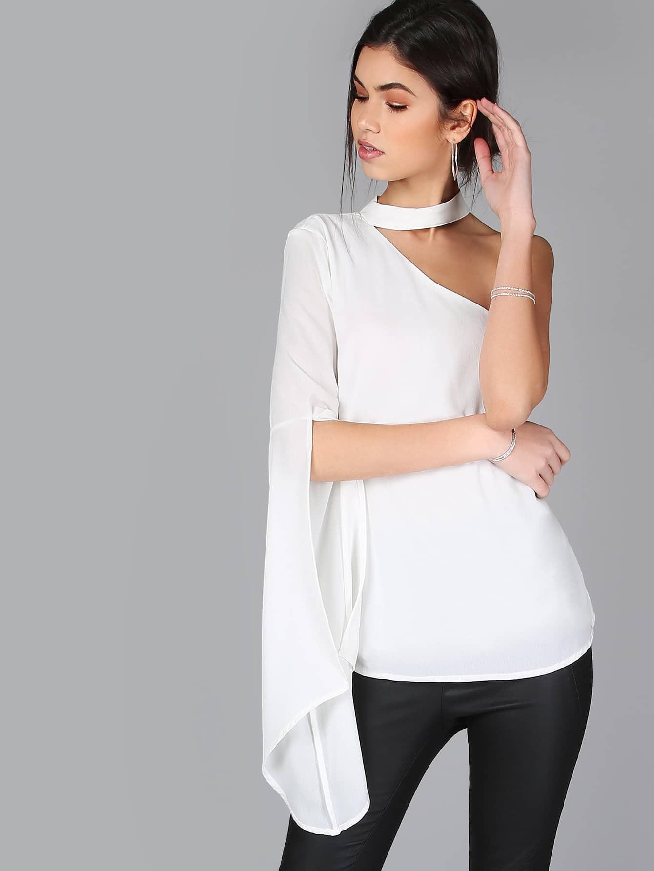 Белая Шифоновая Блузка