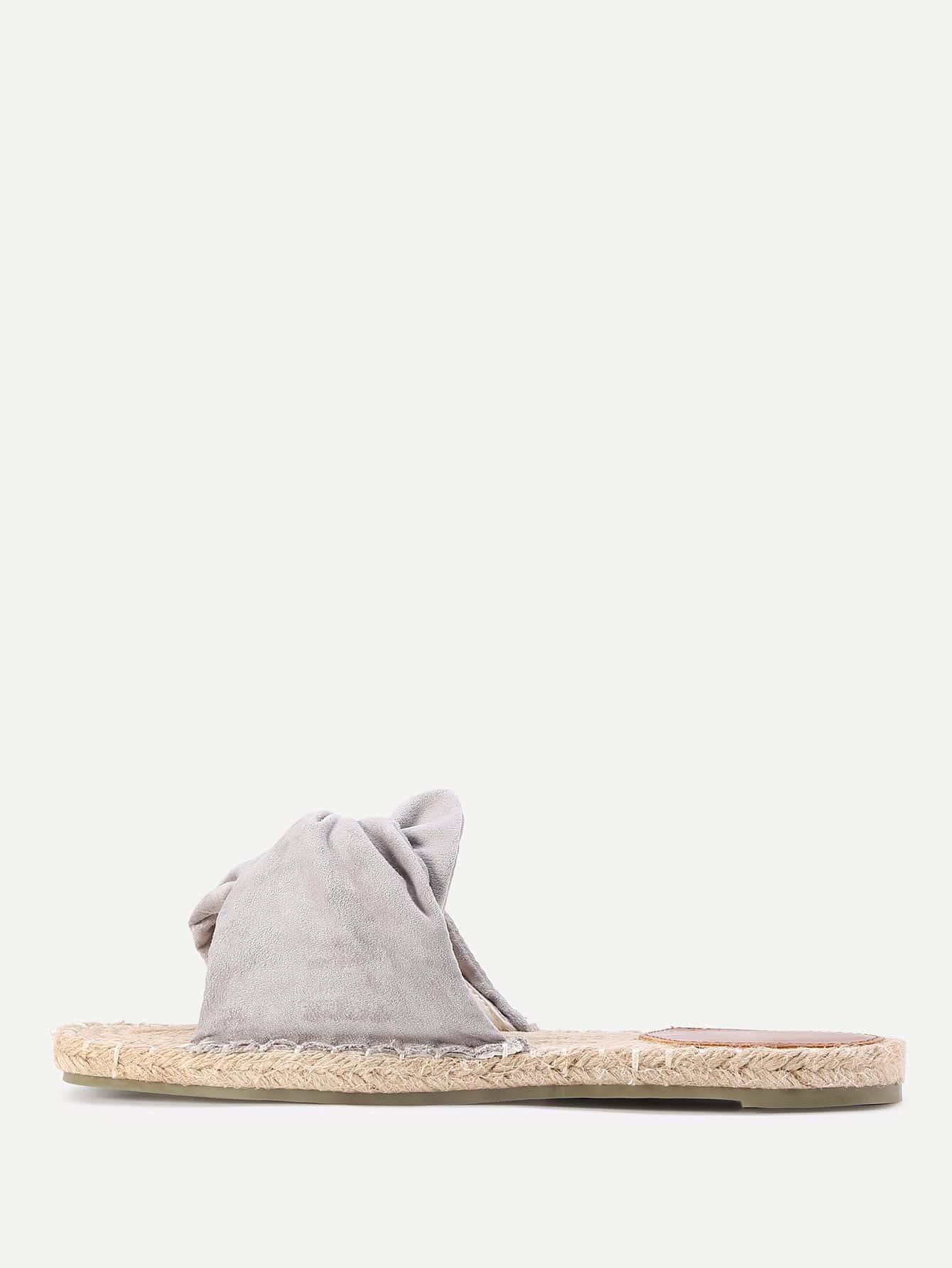 Фото Knotted Design Woven Flat Sandals. Купить с доставкой