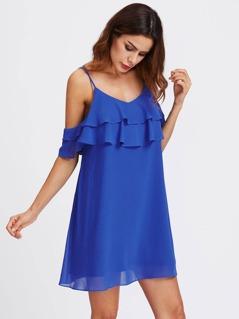 Layered Flounce Trim Dress