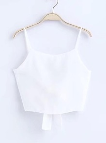 Cami Top With Bow Tie Back