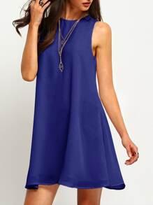 Buttoned Keyhole Back Flowy Dress