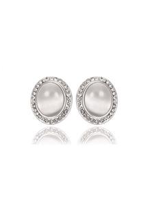 Pendientes con diseño de perla de imitación