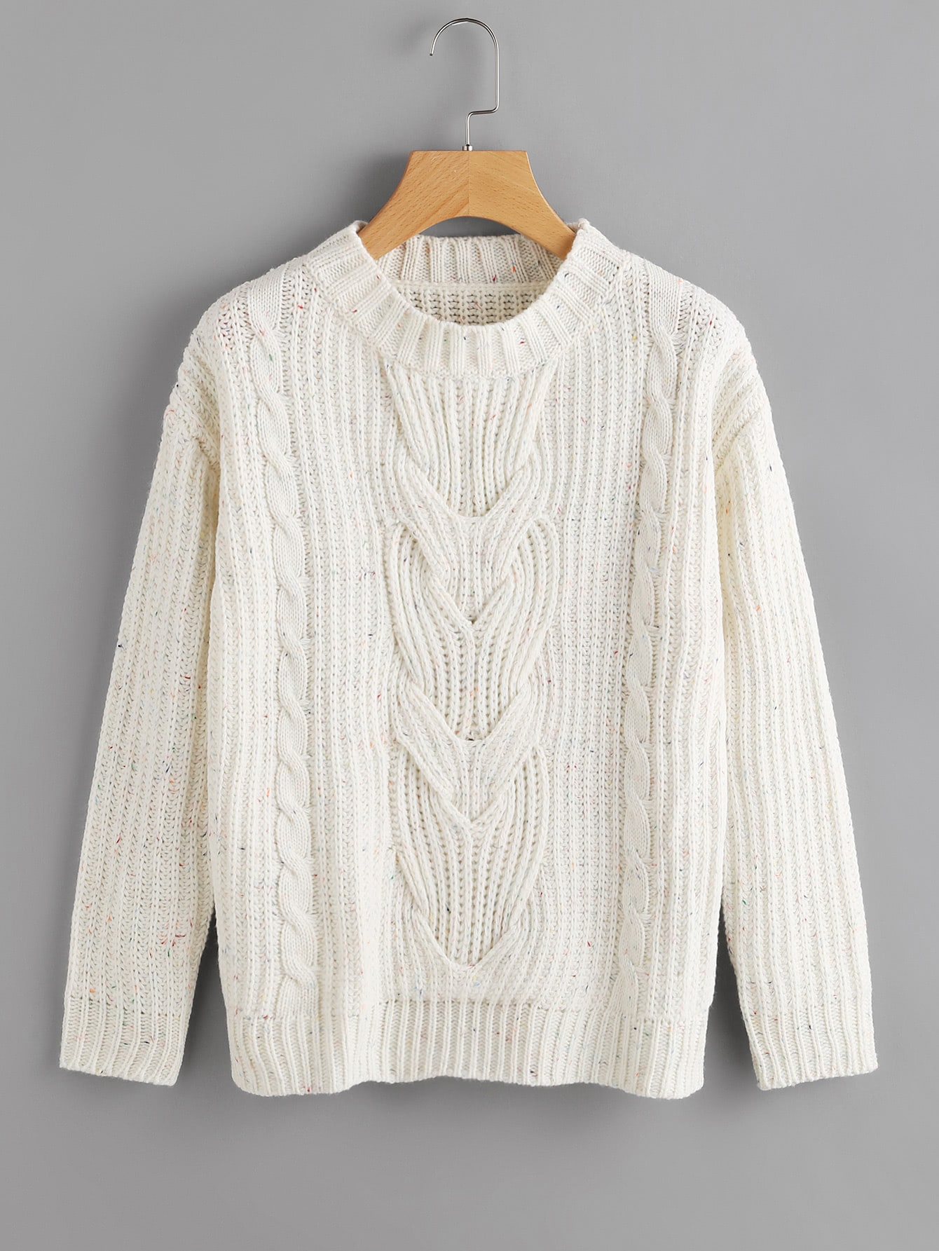 Cable Knit Speckled Jumper шредер fellowes p 35c fs 3213601