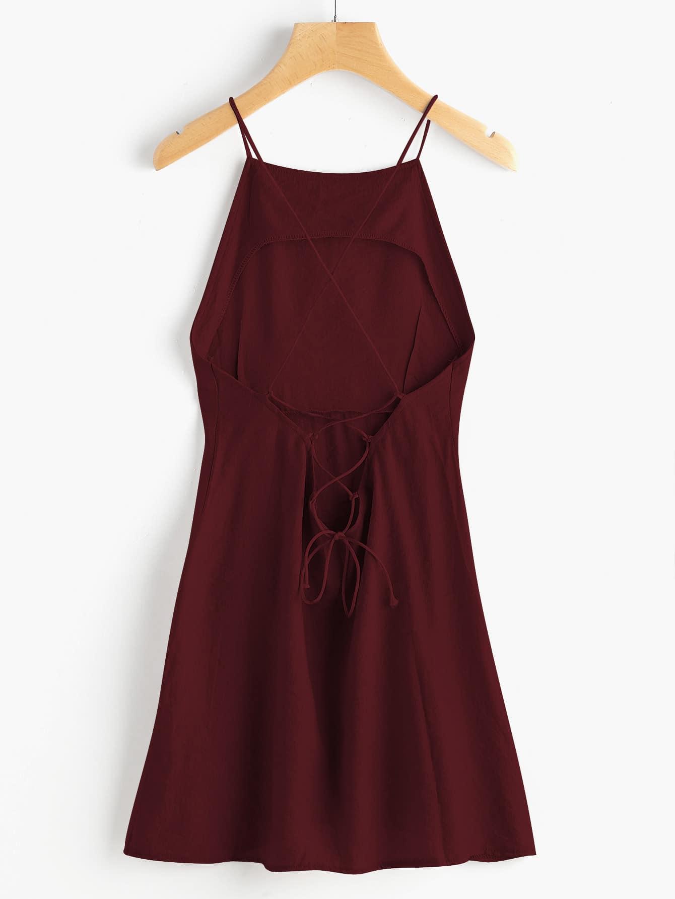 c9d81fdc2cceb4 White Crossback Lace Criss Cross Back Mini Dress - Latest Fashion ...