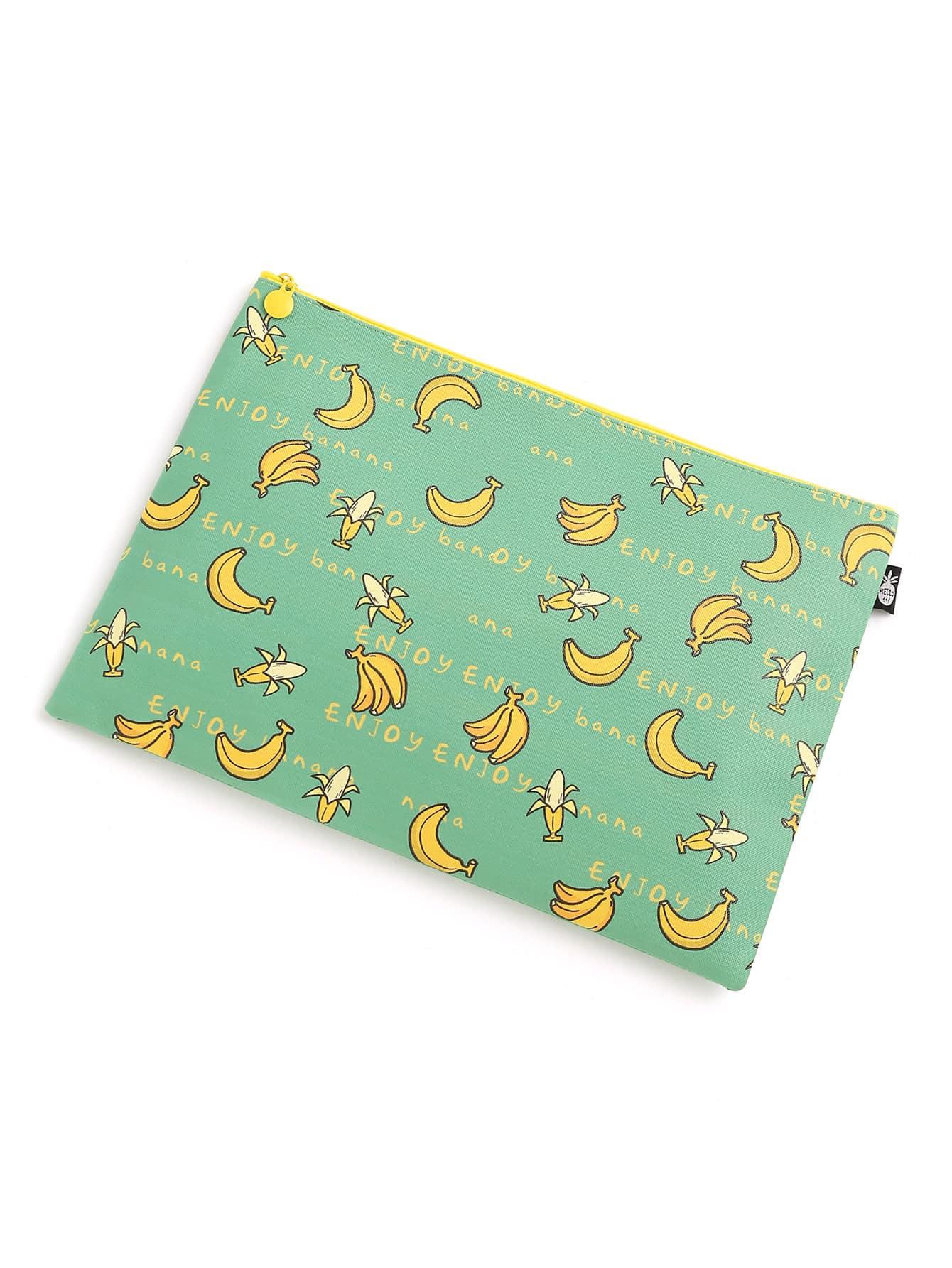 Фото Banana Print Slim Accessory Pouch. Купить с доставкой