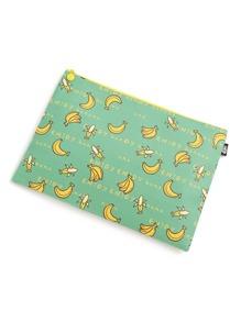 Bolsito con estampado de plátano