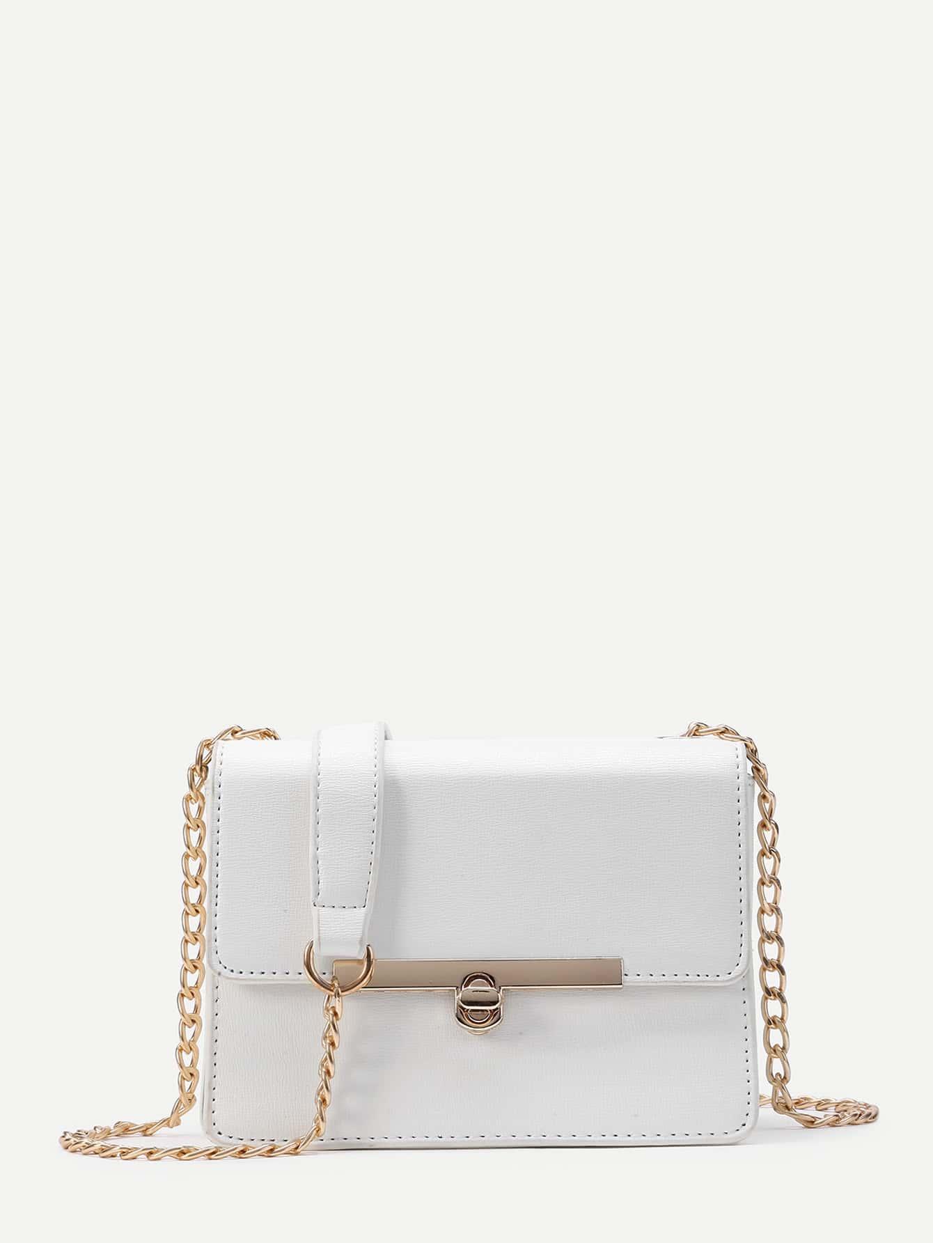 Фото Metal Detail Cross Body Bag. Купить с доставкой