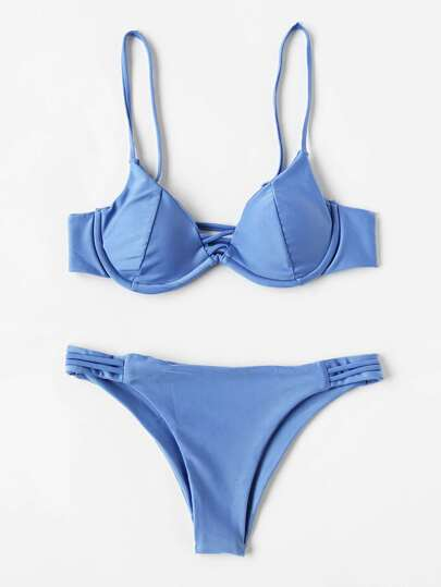 Buy Ladder Cutout Bustier Bikini Set swimwear170608308