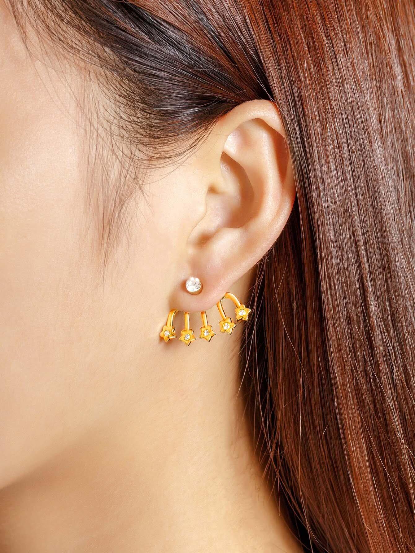 все цены на  Rhinestone Star Design Ear Jacket 1pcs  онлайн