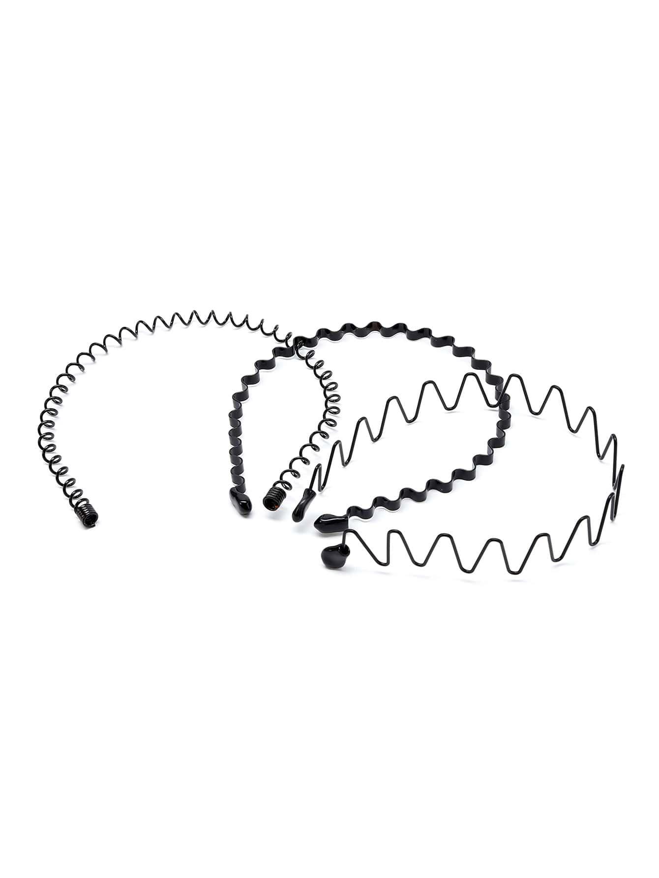 Wave Shaped Headband 3pcs