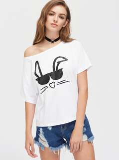 Glasses Bunny Tee