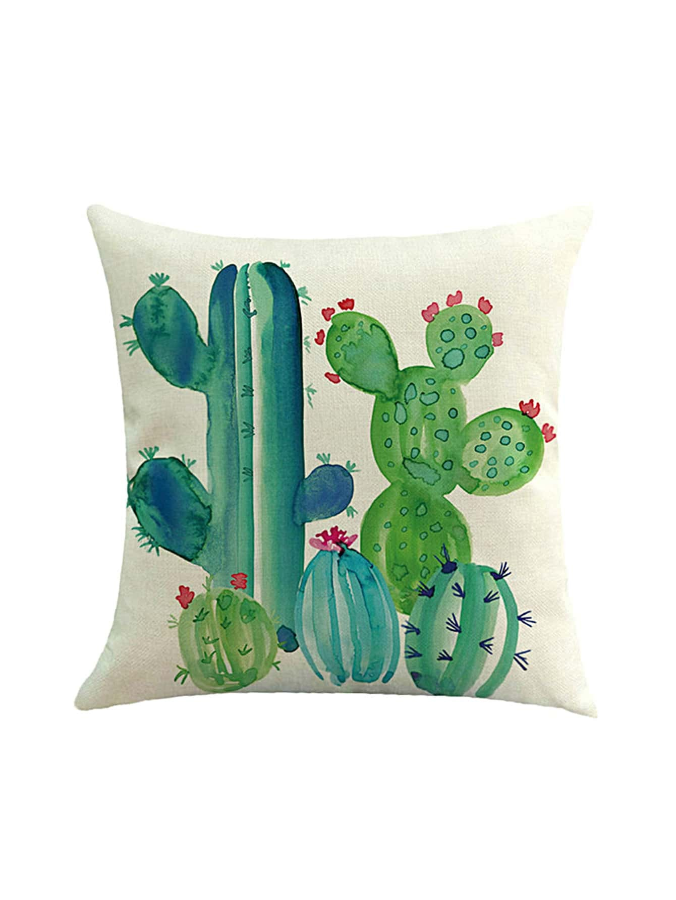 Image of Cactus Print Cushion Cover