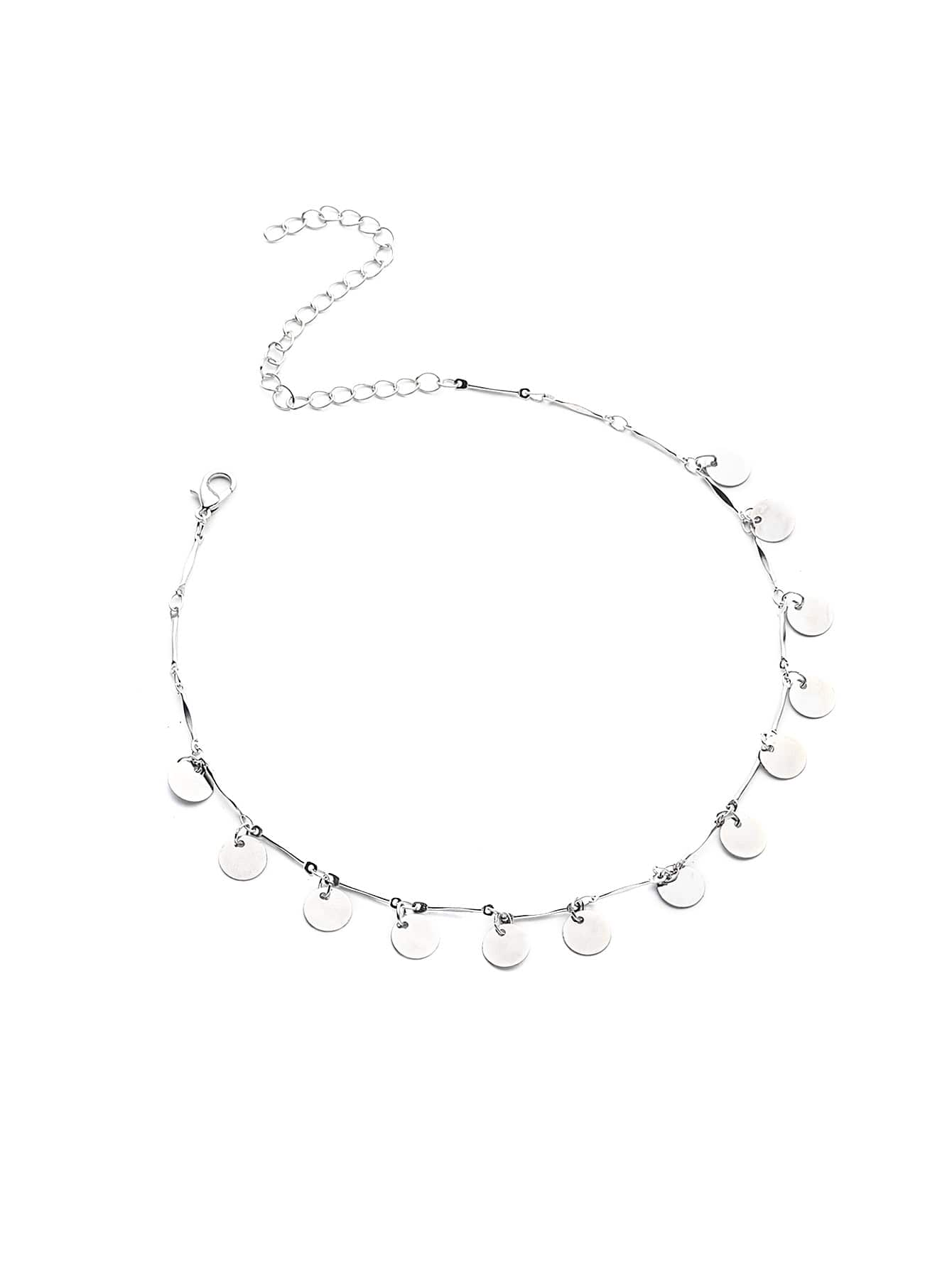 Фото Sequin Embellished Chain Choker. Купить с доставкой
