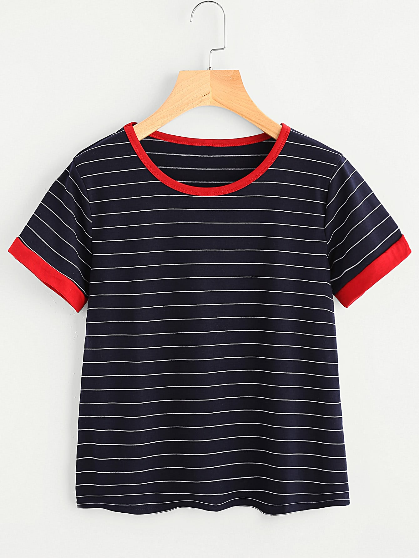 Striped Ringer Tee listc1246