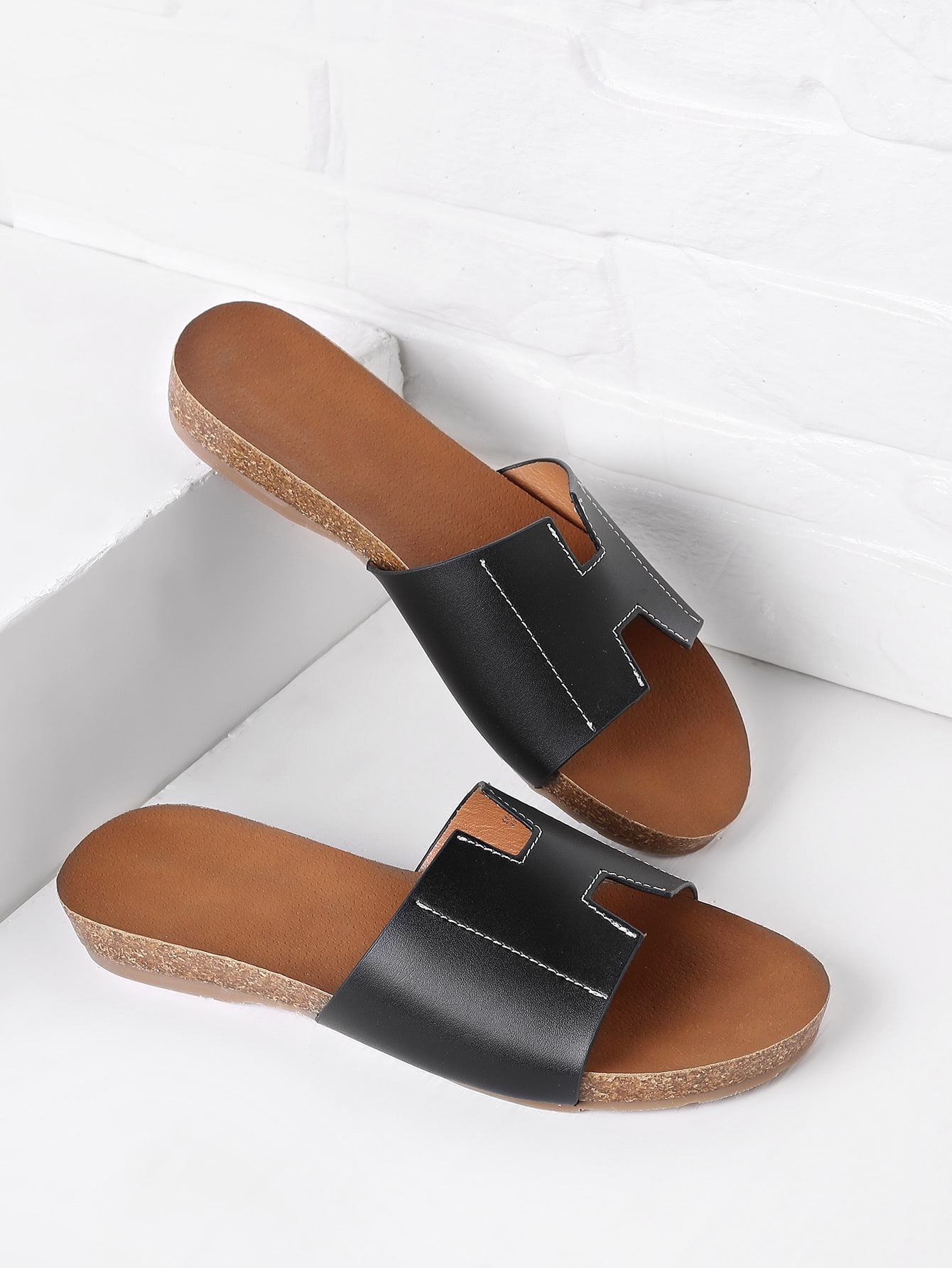 Фото Simple PU Flat Slippers. Купить с доставкой