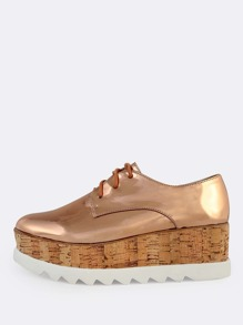 Metallic Patent Flatforms ROSE GOLD