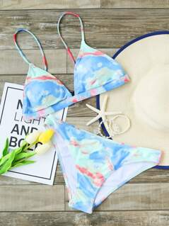 Watercolor Triangle Bikini Set