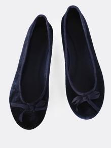 Classic Velvet Ballet Flats NAVY
