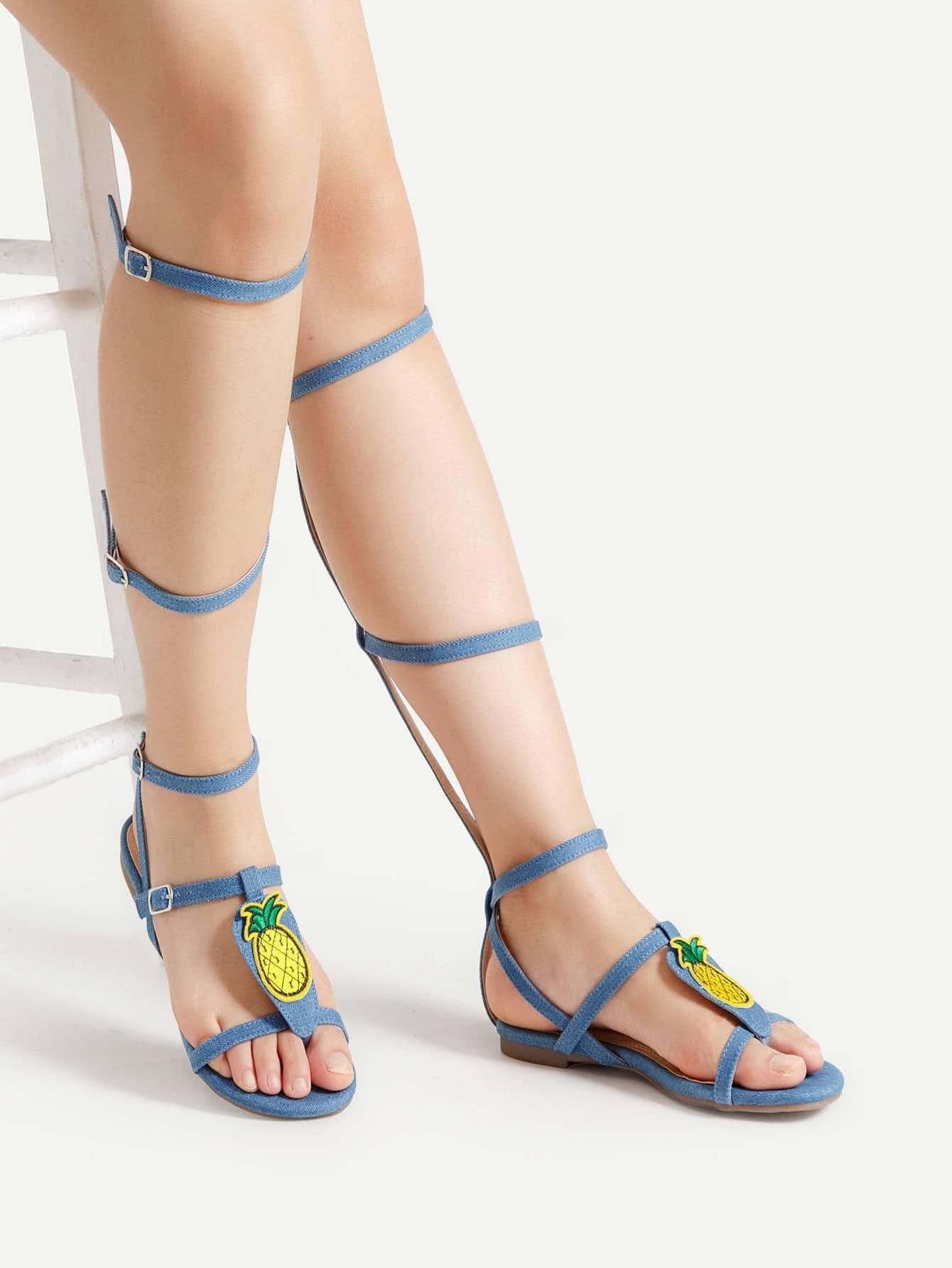 Фото Two Tone Knee High Gladiator Sandals. Купить с доставкой