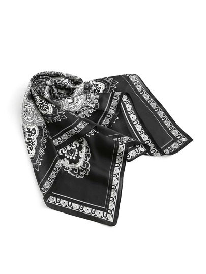 Tribal Print Satin Bandana