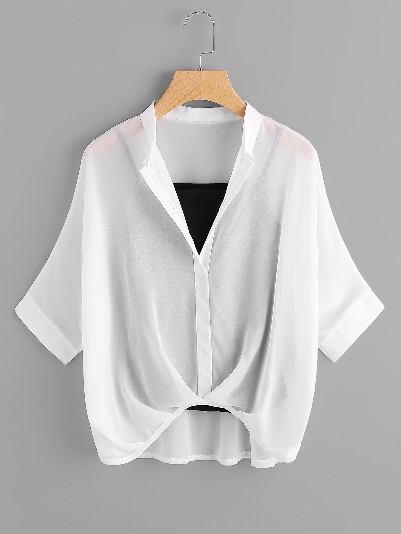 Купить Модная шифоновая блуза и модный топ на бретельках, null, SheIn