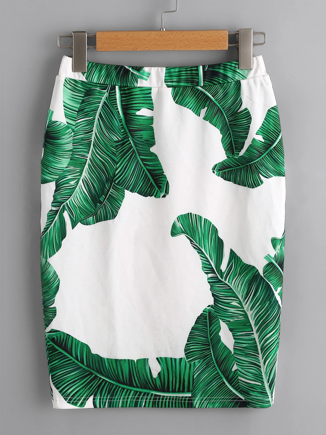 Купить Модная юбка с принтом и эластичной талией, null, SheIn