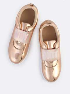 Why Not Metallic Sneakers ROSE GOLD