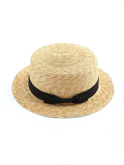 Chapeau de paille avec une bande