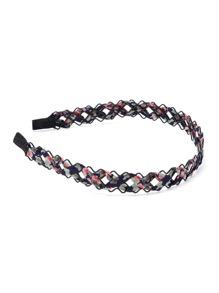 Calico Print Woven Headband