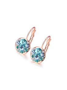 Rhinestone Decorated Earrings