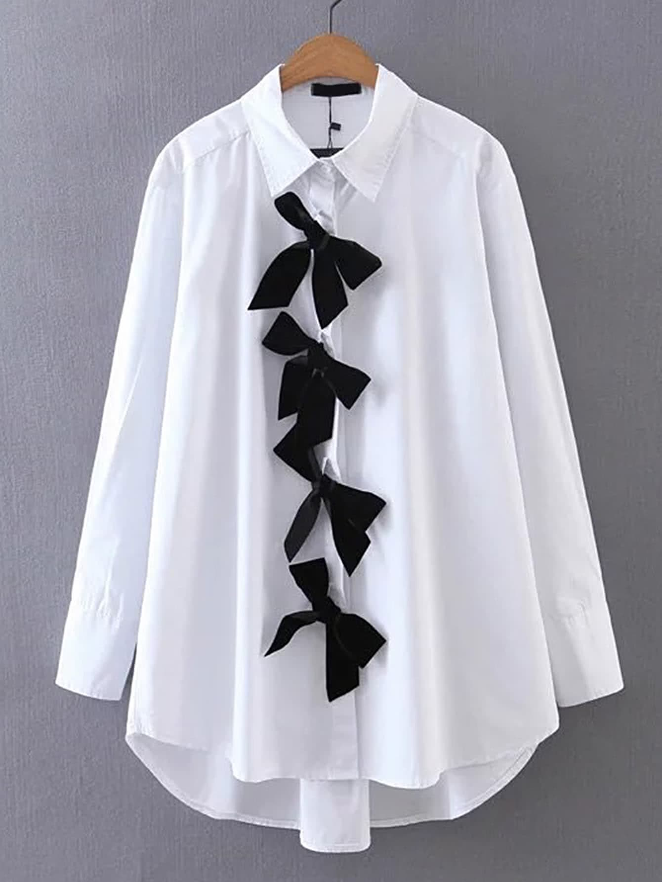 High Low Blouse With Bow blouse170525206