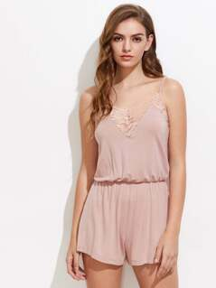 Lace Insert Sleep Romper