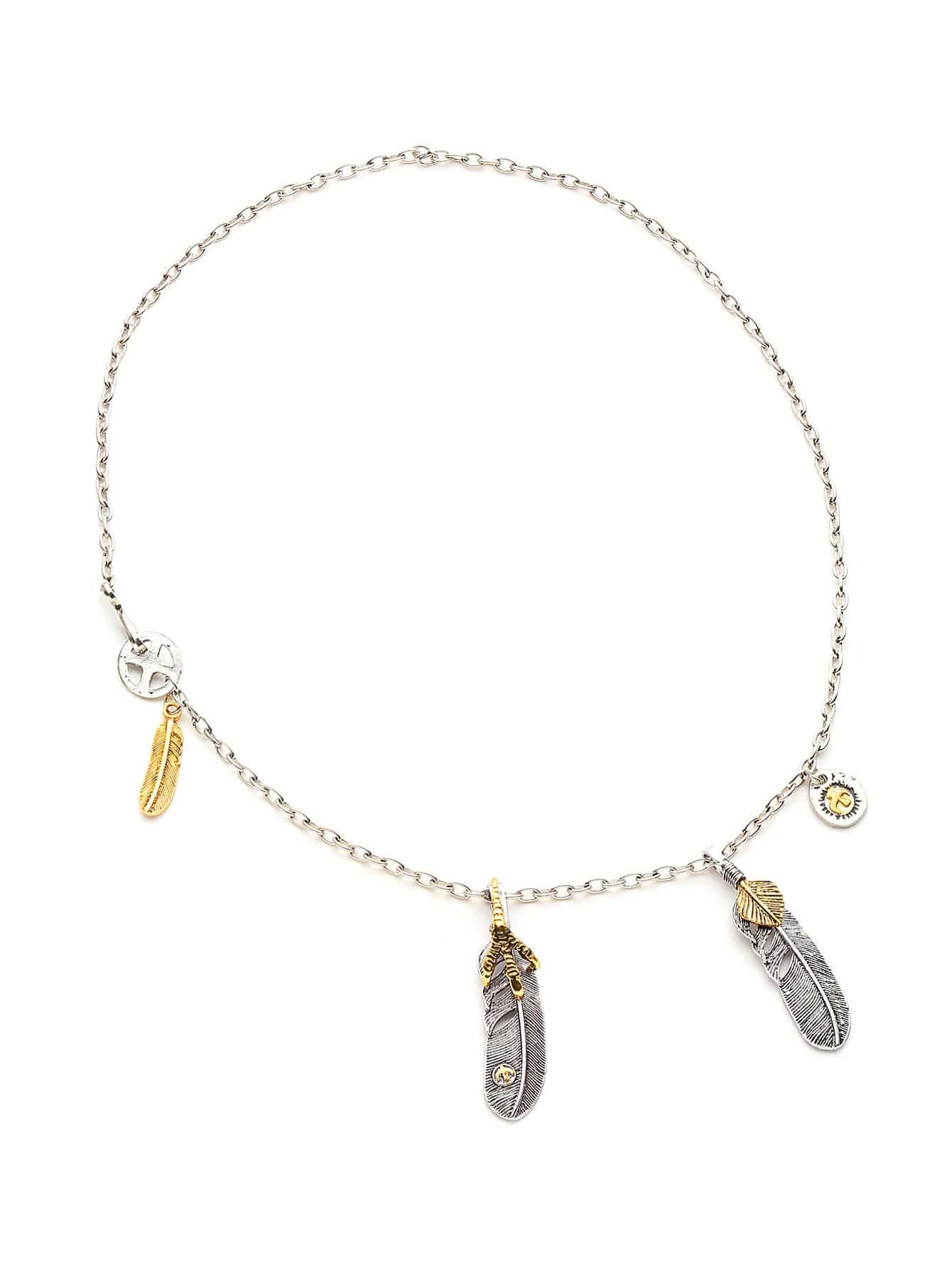 Фото Eagle Claw And Leaf Pendant Necklace. Купить с доставкой