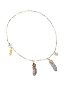Eagle Claw And Leaf Pendant Necklace