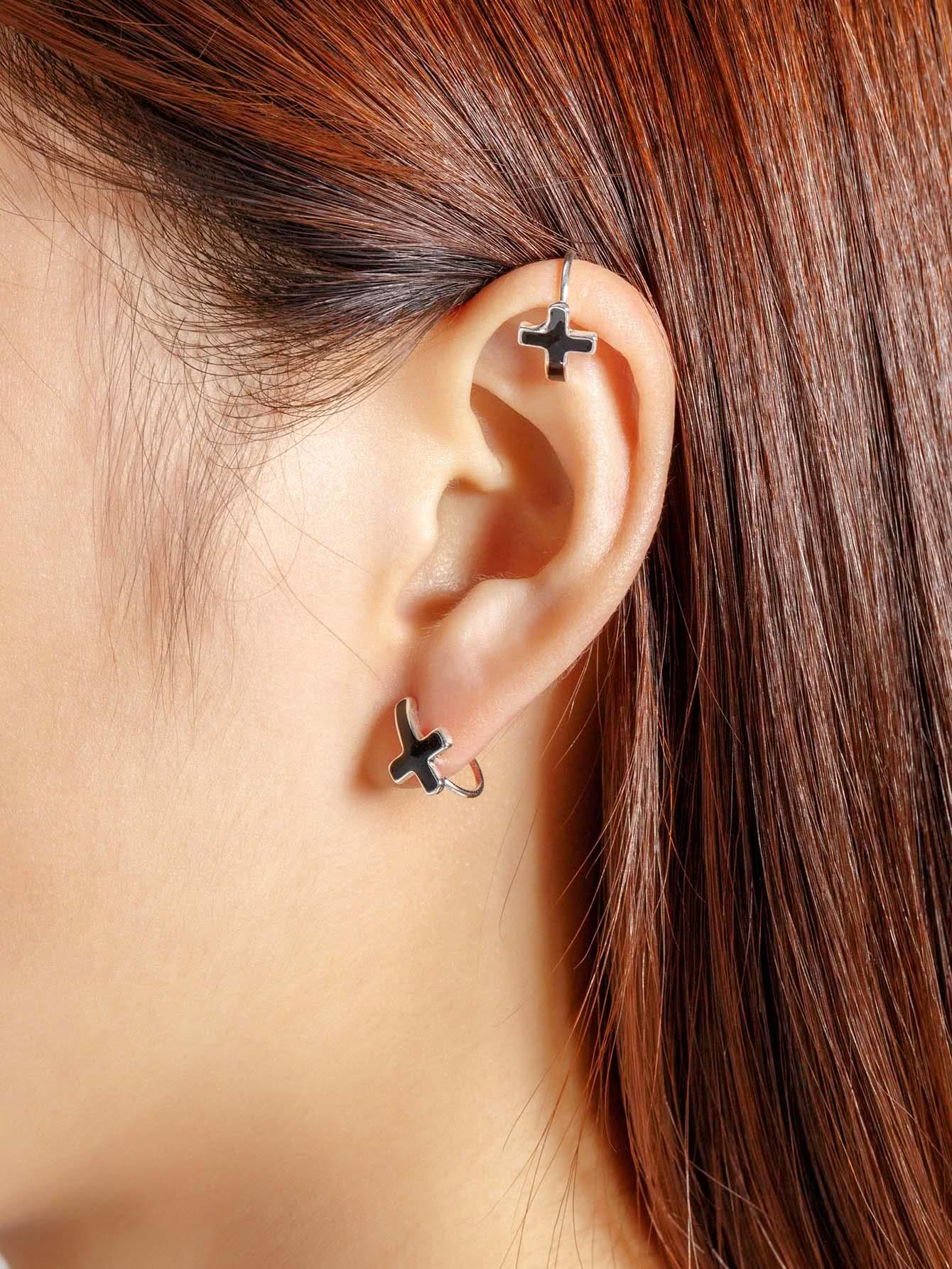 Фото Cross Design Stud Earrings. Купить с доставкой