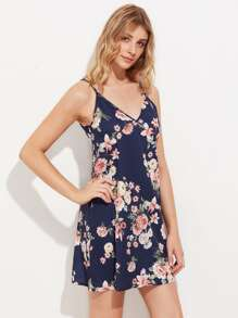 V Back Botanical Nightdress