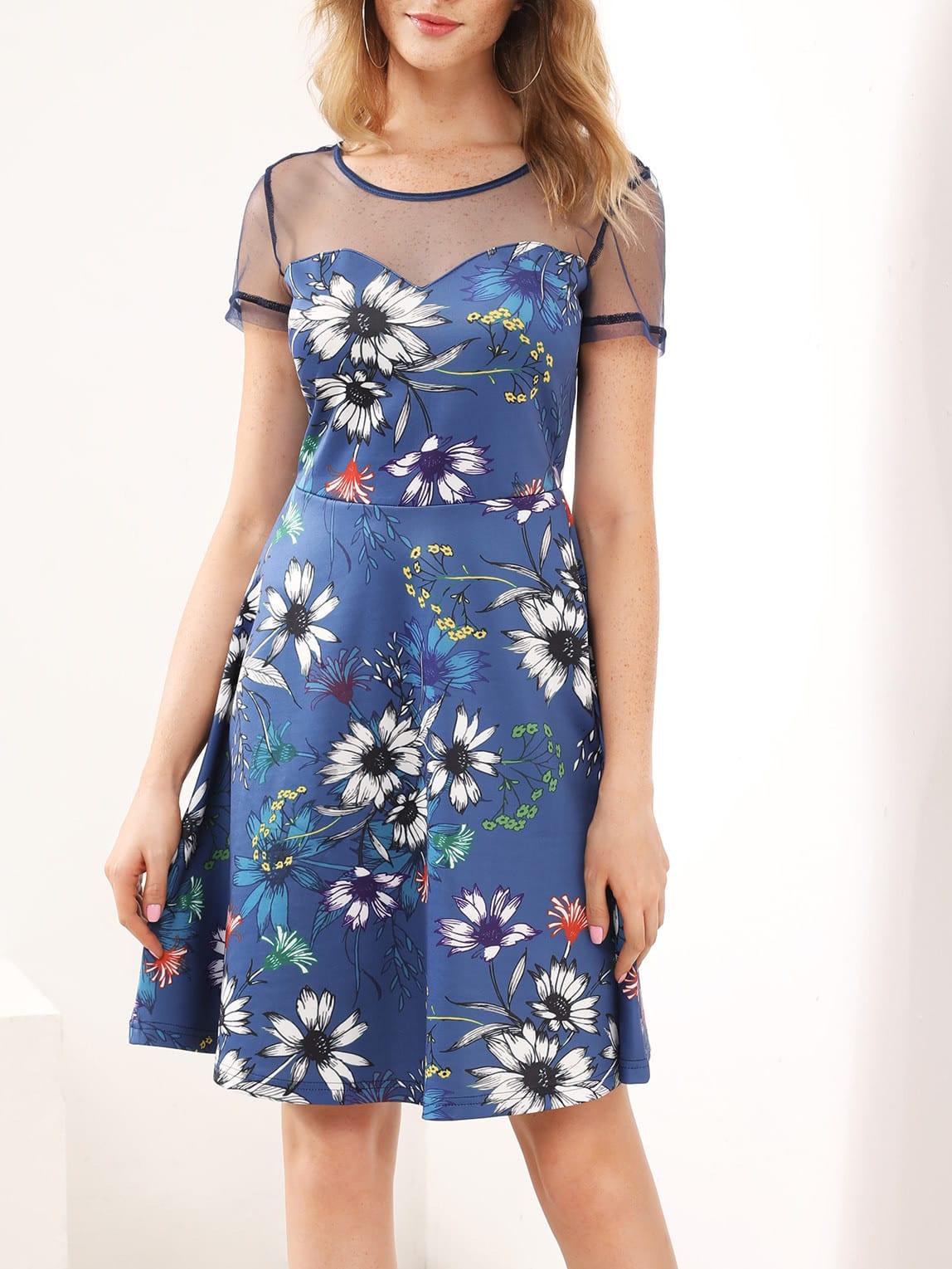 Фото Mesh Sweetheart Botanical Dress. Купить с доставкой