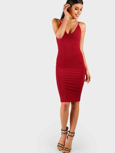 Robe mi-longue bodycon