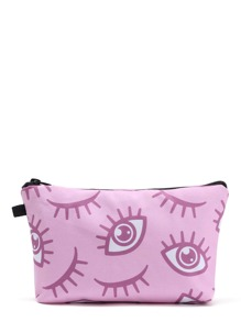 Eye Print Cosmetic Bag