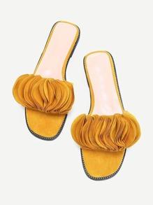 Layered Petal Design Sandals