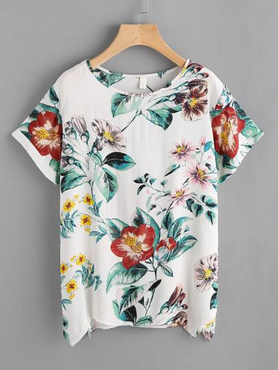 Blouse imprimée de la jungle