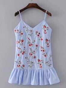 Ruffle Hem Tie Back Cami Dress