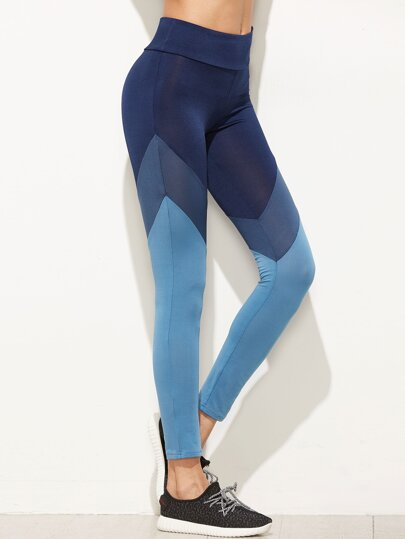Leggins de color combinado