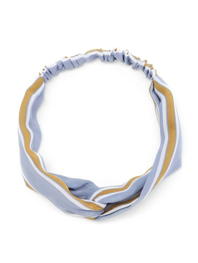 Block Striped Twist Hairband