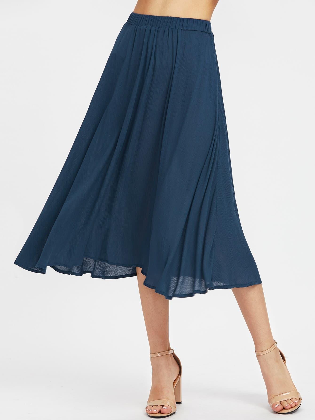 Фото Elastic Waist Crinkle Flowy Skirt. Купить с доставкой