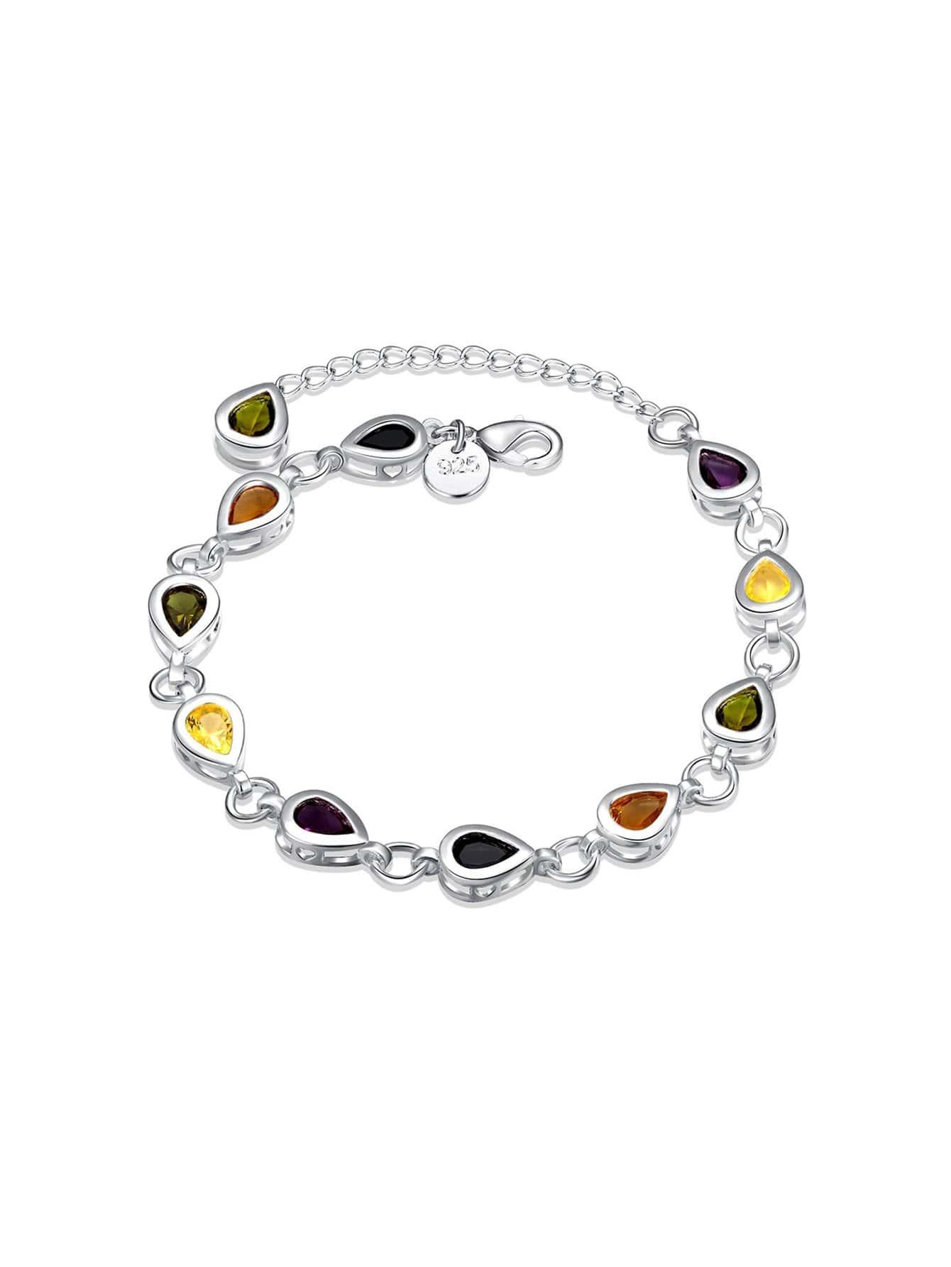 Фото Water Drop Crystal Design Chain Bracelet. Купить с доставкой