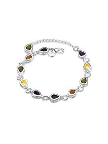 Bracelet de chaîne en cristal en forme de goutte de l\'eau